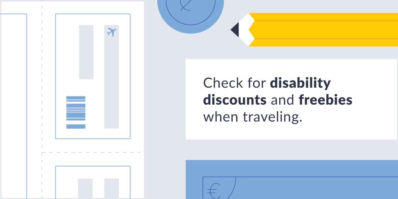 Check for disability discounts when traveling illustration.