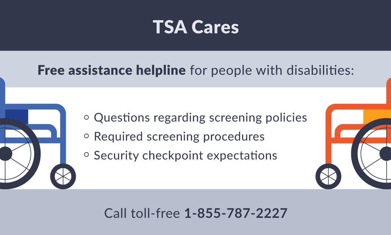 TSA cares hotline information illustration.